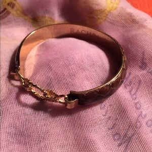 RACHEL LEIGH Brown Snakeskin Bracelet